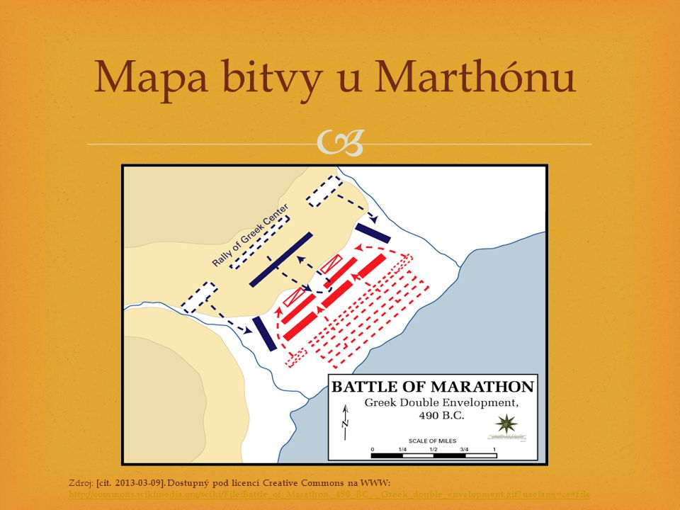 Mapa bitvy u Marthónu Zdroj: [cit. 2013-03-09]. Dostupný pod licencí Creative Commons na WWW: